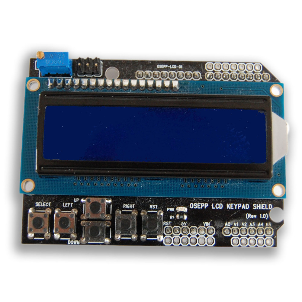16×2 LCD Display & Keypad Shield for Arduino