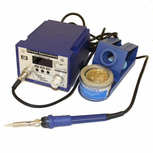 75W Soldering Station & Solder Tip Cleaner With 10 Pack of Solder Tips & Extra Rosin Flux