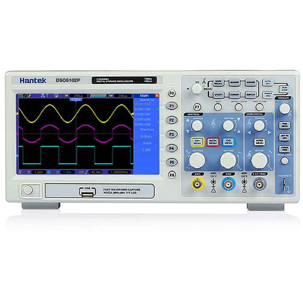 HANTEK 100 MHZ BENCH OSCILLOSCOPE. 1 GIG/SEC SAMPLING RATE