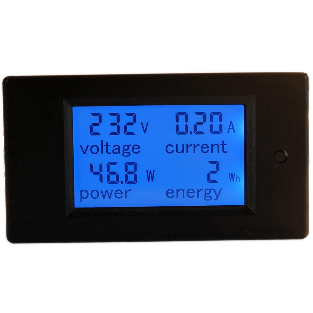 Lcd Panel Meter : Volt amp multifunction ac lcd panel meter