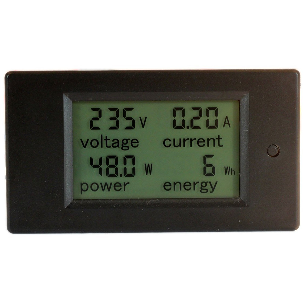 80-260 Volt 0-100 Amp MultiFunction AC LCD Panel Meter