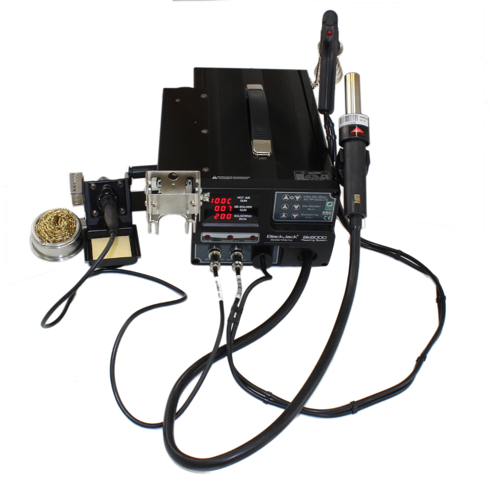DELUXE HIGH POWERED ALL IN ONE WORK STATION WITH HOT AIR, SUCTION AND SOLDERING