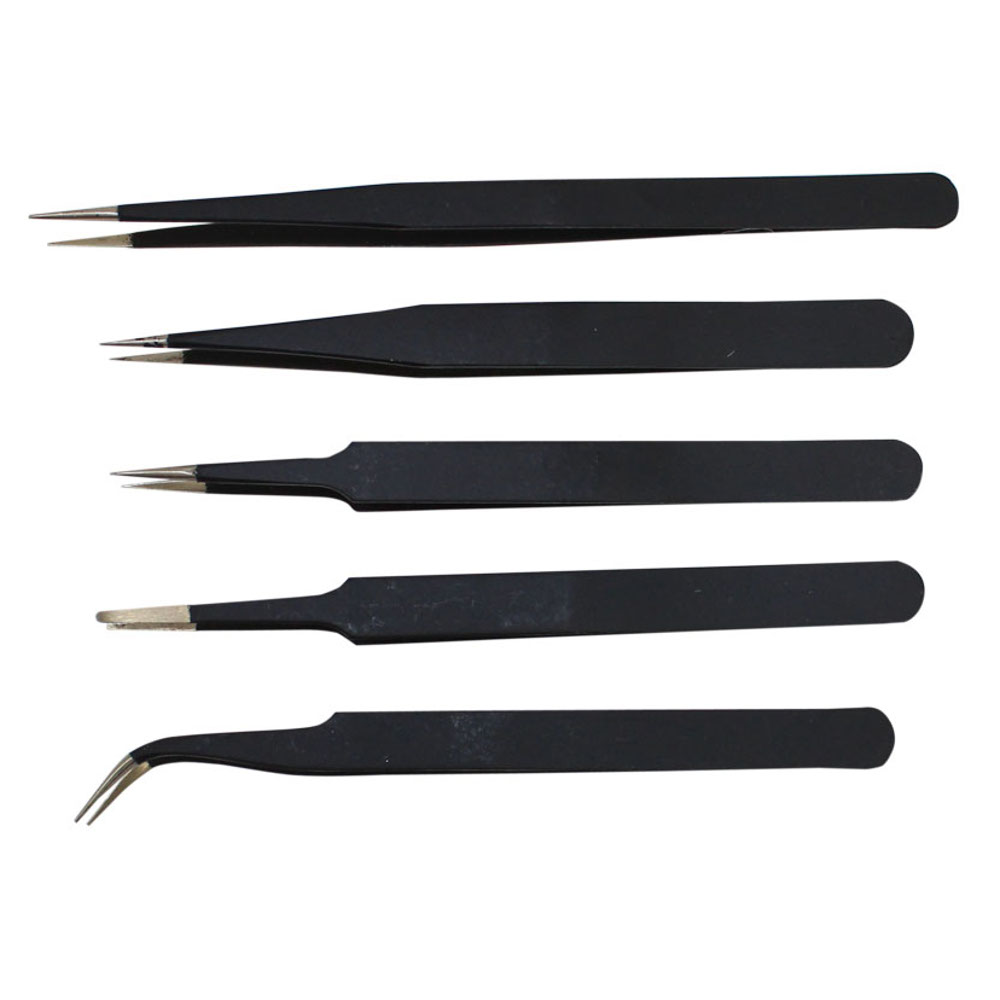SET OF 5 TWEEZERS