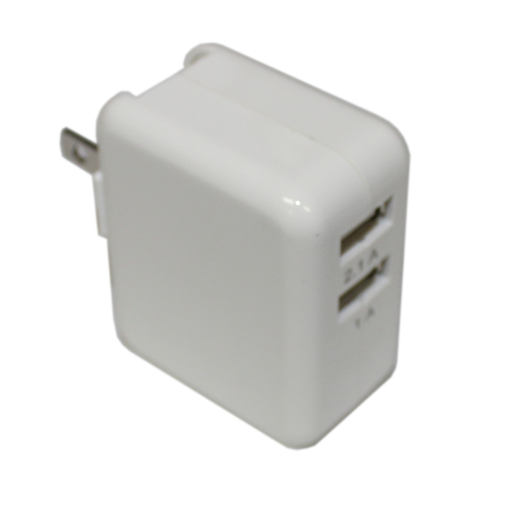 Dual USB Power Supply/Charger - 5V DC @ 2.1A & 1A