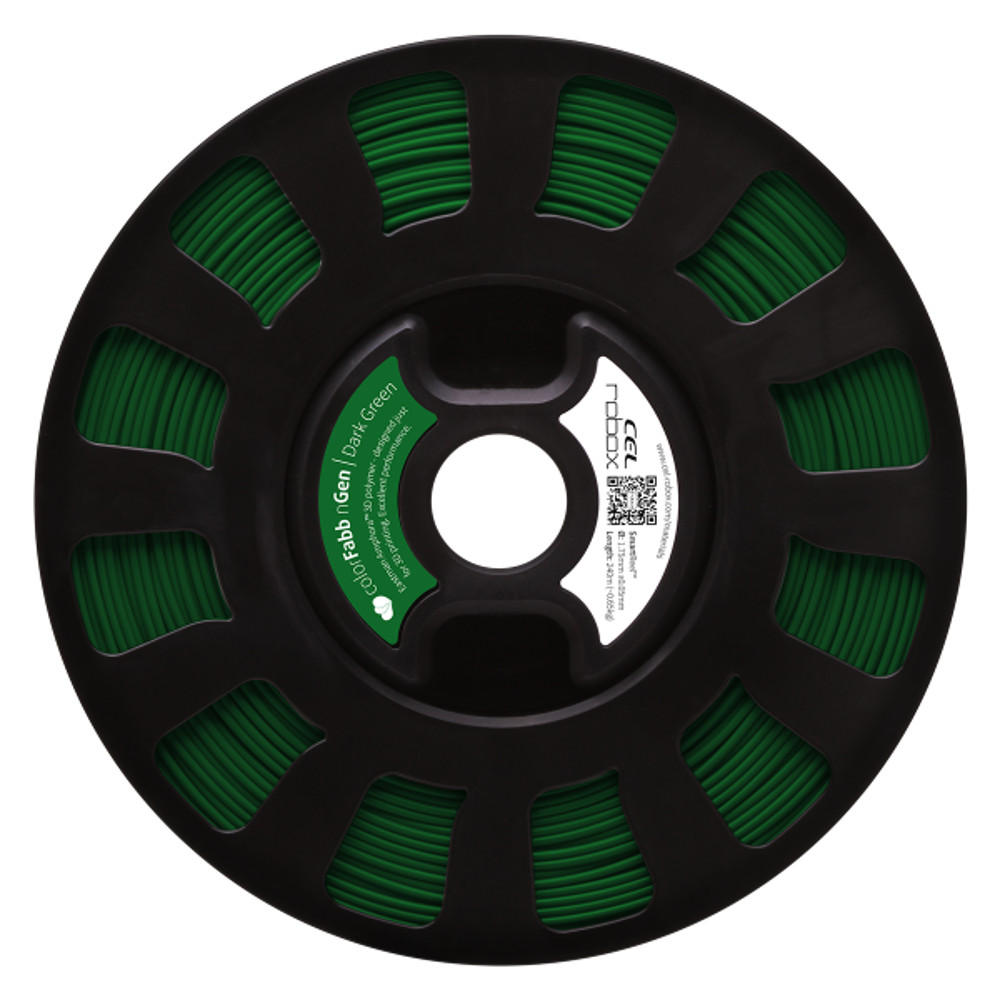 ColorFabb nGen filament in Dark Green - RBX-PET-NGGR1