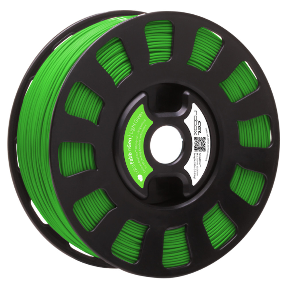 ColorFabb nGen filament in Light Green - RBX-PET-NGGR2