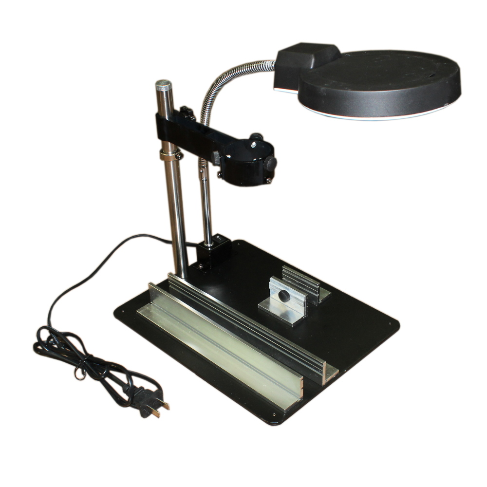 MULTI FUNCTION REPAIR PLATFORM W LED LIGHTING AND MAGNIFIER