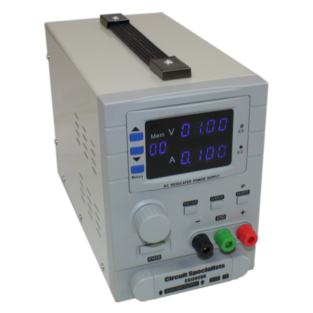 30 Volt DC 5.0 Amp Programmable Variable Linear Power Supply