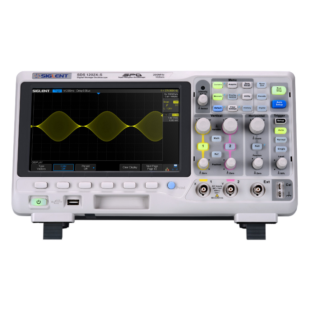 Siglent 200MHz, 14M memory, 1GSa/s 2-channel oscilloscope with Waveform Generator