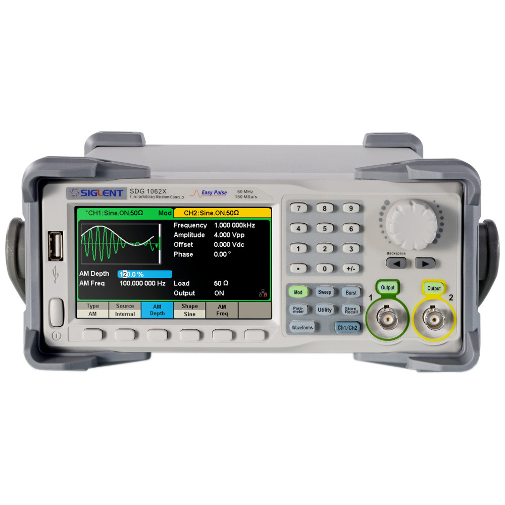 White Cikonielf Upgraded 60MHz 2-Channel DDS Arbitrary Waveform Signal Generator with Pulse Trains Burst Output Function