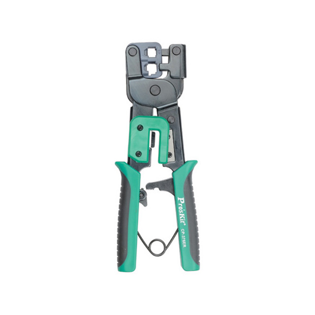 Ratcheted Modular Plug Crimper