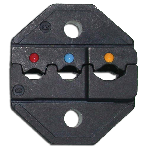 LUNAR SERIES DIE SET - INSULATED TERMINALS - AWG 22-10  THIN STYLE..RED/YELLOW/BLUE