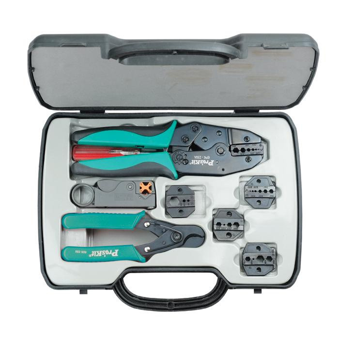 Coax Crimping Kit..w/Crimp Frame, 5 Dies, Rotary Stripper