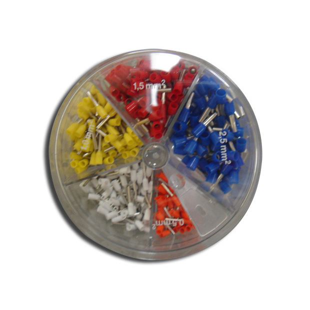 WIRE FERRULE ASSORTMENT PACK..22,20,18,16,AND 14 AWG INSULATED