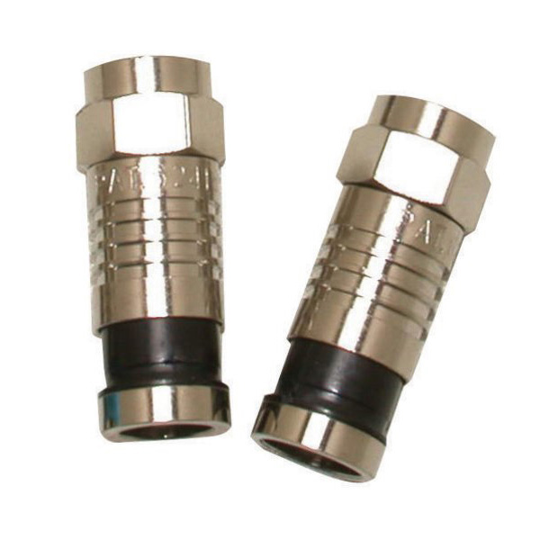 F CONNECTOR - FOR RG6/U - 10 PK