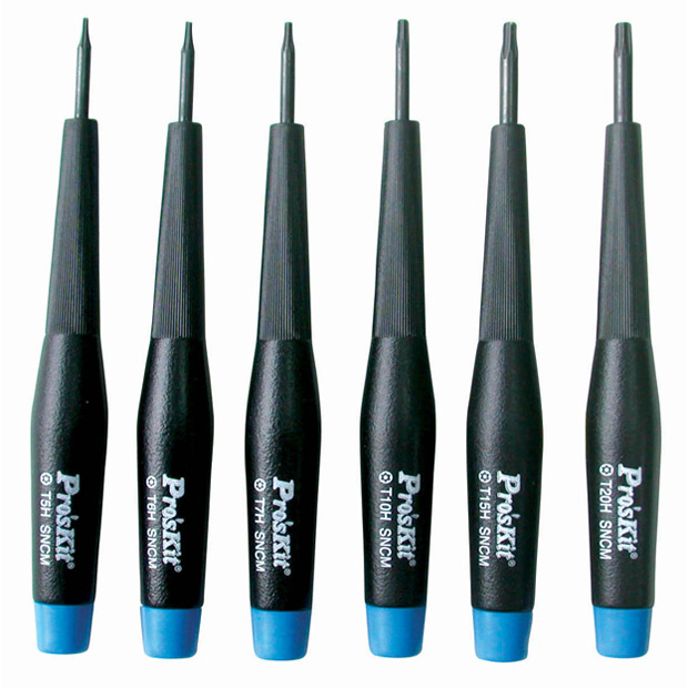 Precision Screwdriver Set 6 Pc. Security Star Tip