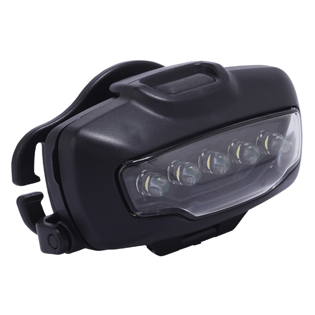 LITERAY HEADLIGHT W/5 LED'S BLACK, ECLIPSE LOGO PAD PRINTED BATTERIES NOT INCLUDED