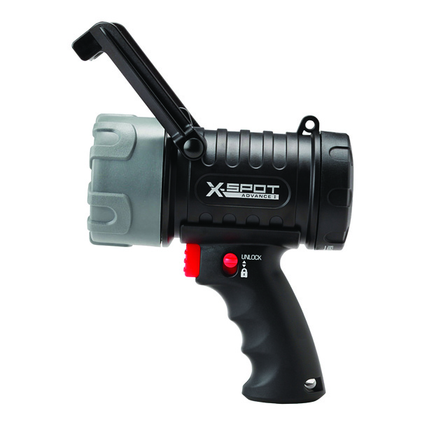 X-SPOT HANDHELD SPOTLIGHT BLACK, ECLIPSE LOGO PAD PRINTED BATTERIES NOT INCLUDED