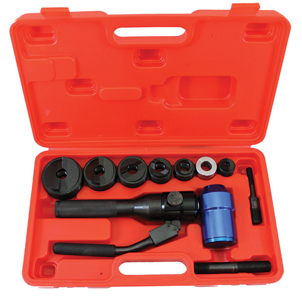Tuff Punch Swivel - Hydraulic Knockout Punch with Swivel Head and Type C punch/die sets marked for US market, Inch Sizes