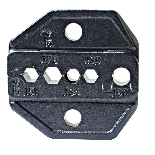 LUNAR SERIES DIE SET FOR FIBER OPTICS..FOR FC/SC/ST/LC/SMA & MT-RJ CONNECTORS..HEX .139/.151/.178 AND ROUND .134/.178