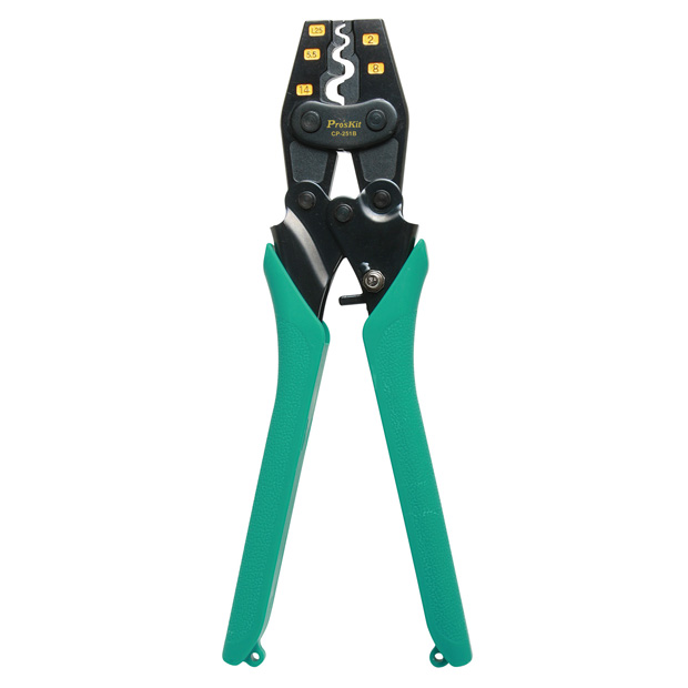 RATCHETED CRIMPER FOR NON-INSULATED TERMINALS AWG 22-6