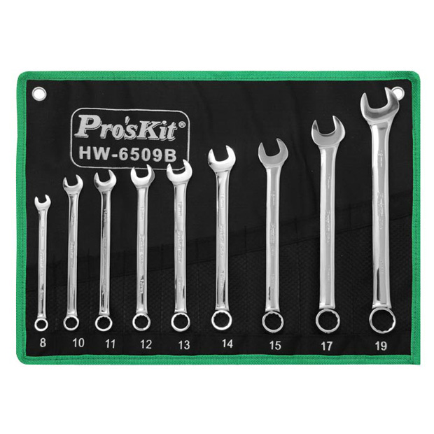 9 PC COMBINATION WRENCH SET, METRIC