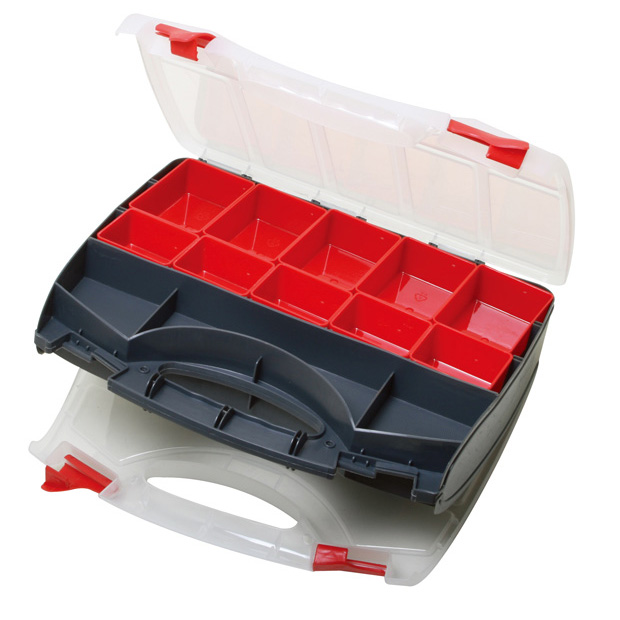 COMPARTMENT STORAGE CASE, DUAL SIDED, UP TO 31 COMPARTMENTS