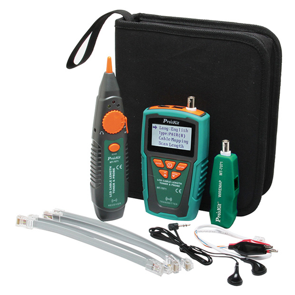 LCD Cable Length Toner & Probe Kit