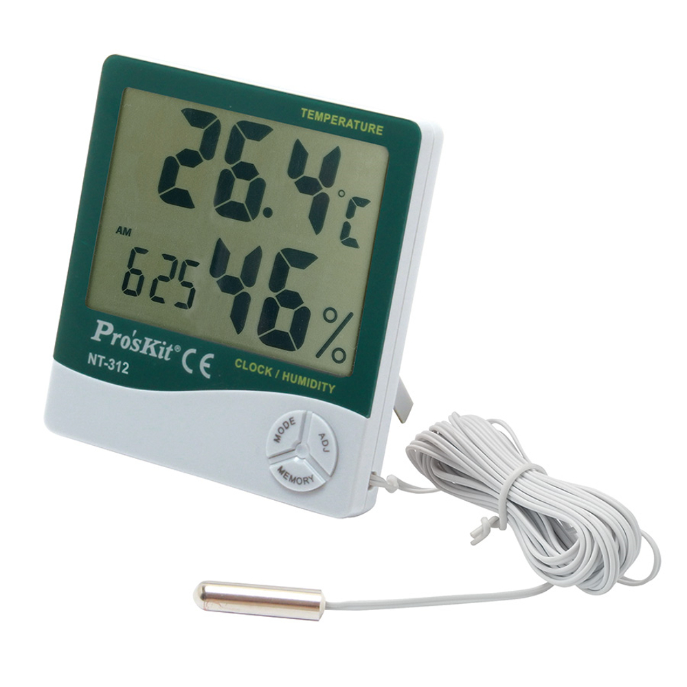 DIGITAL TEMPERATURE/HUMIDITY METER WITH PROBE