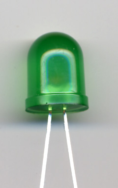 10MM GREEN LED LONG LEAD