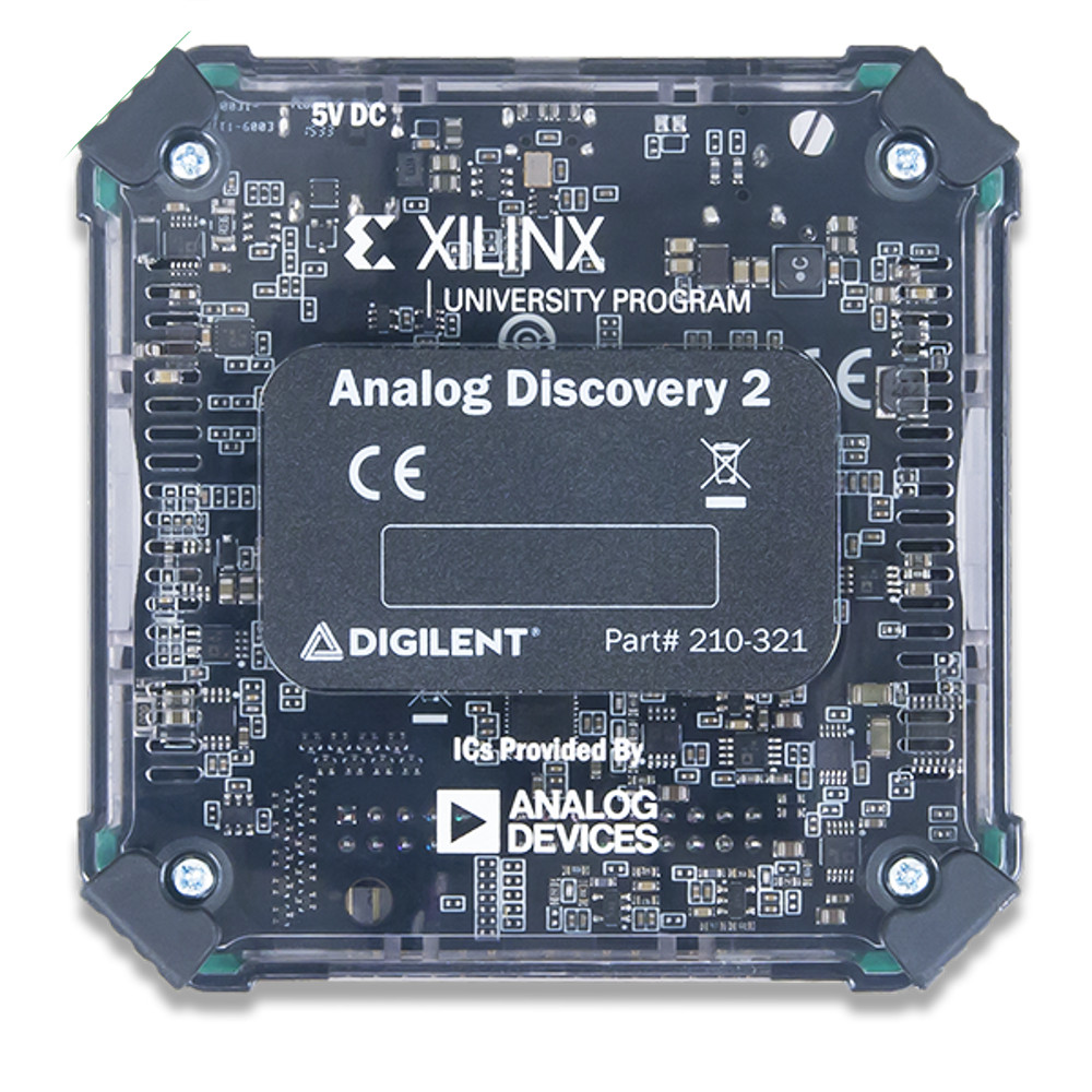 Analog Discovery 2 Usb Oscilloscope And Logic Analyzer Diagram 100ms S Variable Power Supply