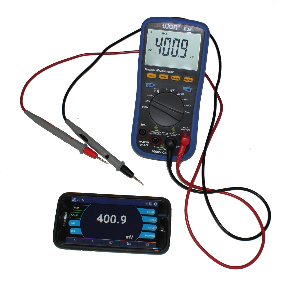 OWON B35 BLUETOOTH MULTIMETER, AND DATA-LOGGING