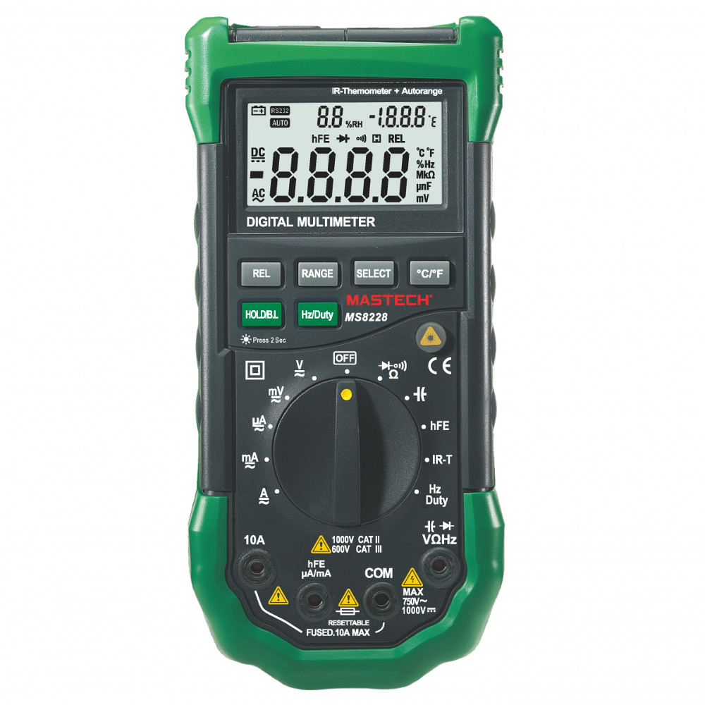 MASTECH MULTIMETER INCLUDING HUMIDITY METER, THERMOMETER