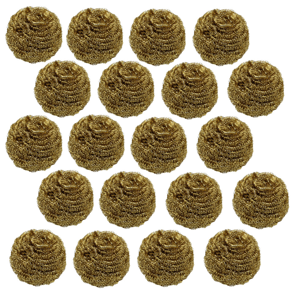 20-PACK OF BRASS SOLDER TIP CLEANING WIRE SPONGE