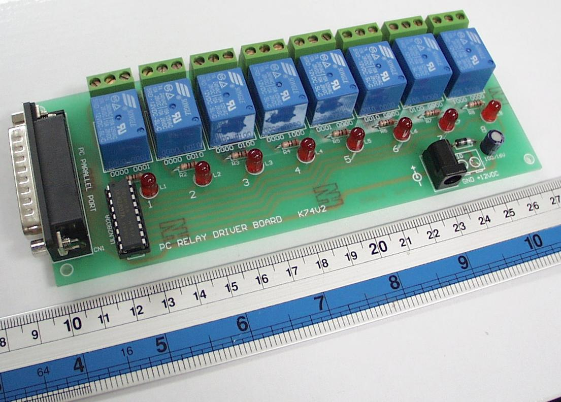 PC Printer Port Relay Board Kit
