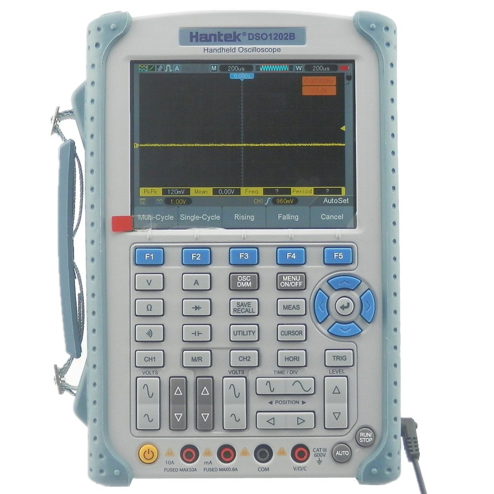 Hantek Handheld Oscilloscope with Digital Multimeter and 1GSa/s Sample Rate