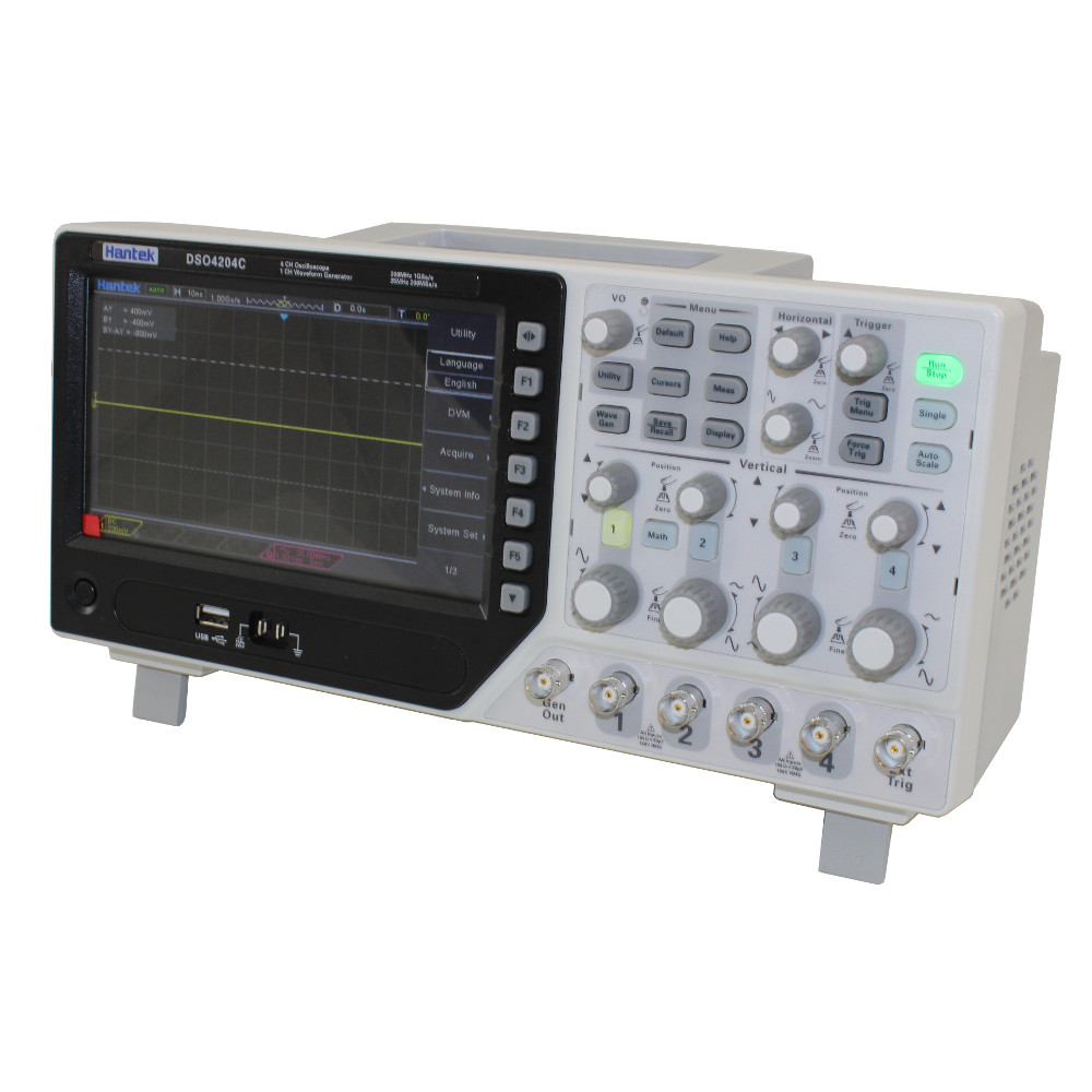 4 CHANNEL, 200 MHZ OSCILLOSCOPE AND INTEGRATED WAVEFORM GENERATOR