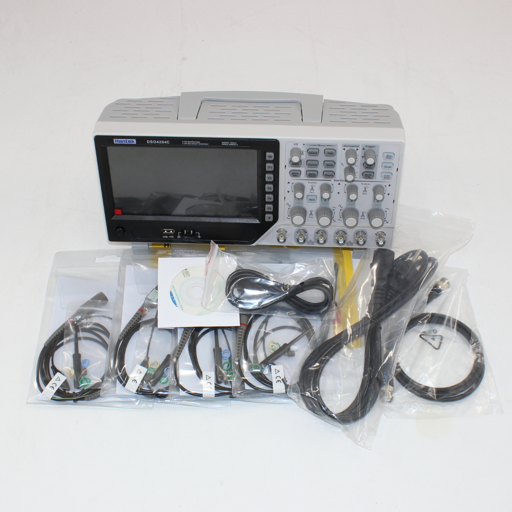 Hantek DSO4204C 200MHz 4CH Digital Oscilloscope and Function Generator