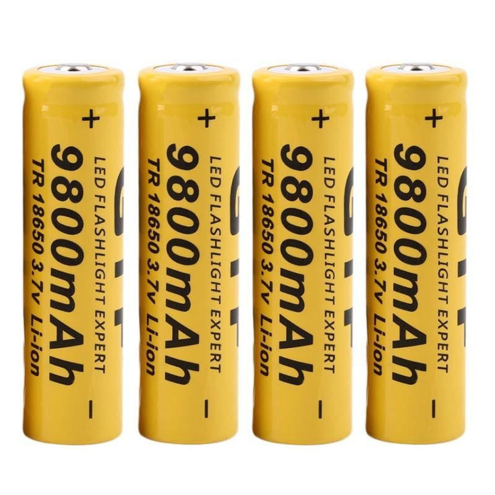 1250 mAh 3.7V 18650 LITHIUM ION RECHARGEABLE BATTERIES