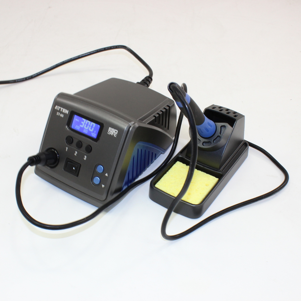 60 WATT PROGRAMMABLE SOLDERING STATION, ESD-SAFE, DIGITAL LCD