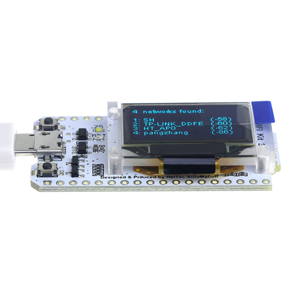 USB powered ESP32 Development Board with built in LED Display