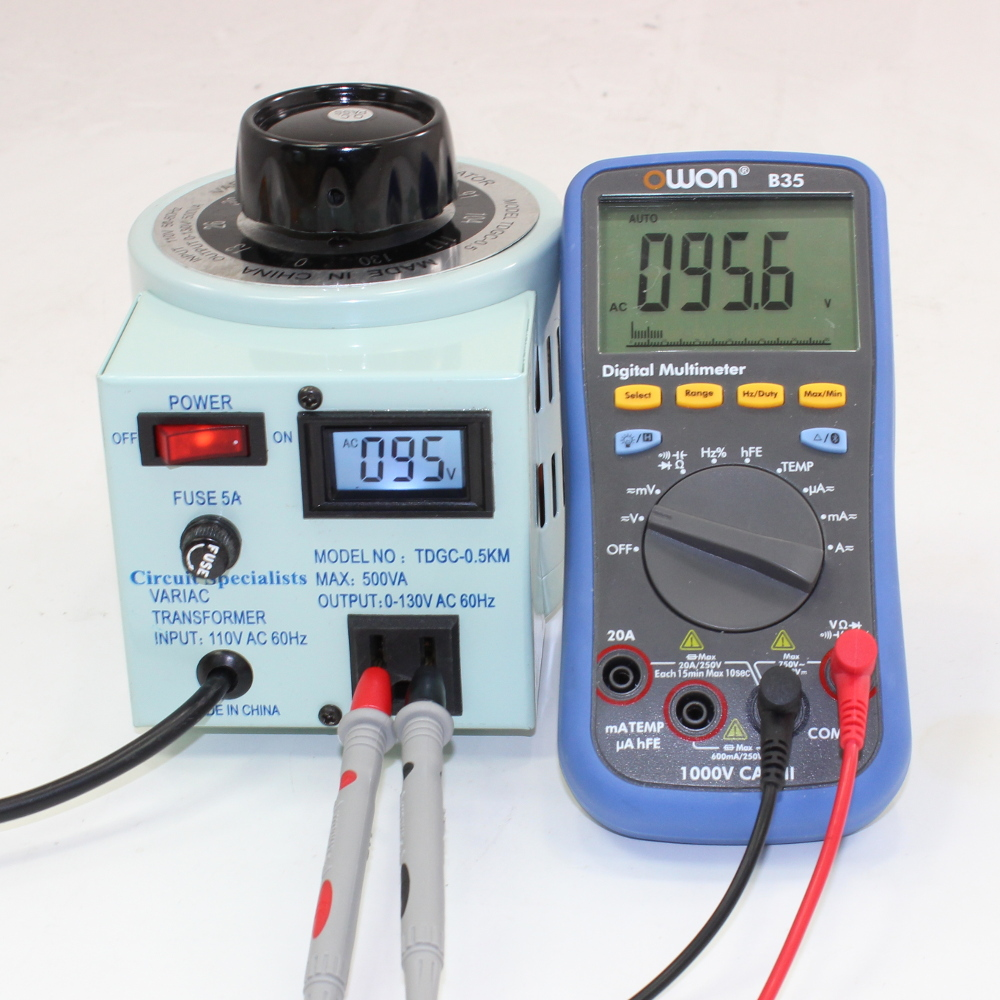 5 Amp Variac Variable Output Autotransformer with Digital Display