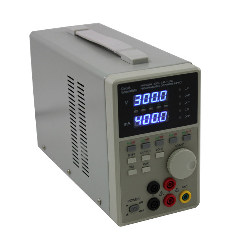 0-300V, 0-400MA HIGH VOLTAGE PROGRAMMABLE POWER SUPPLY