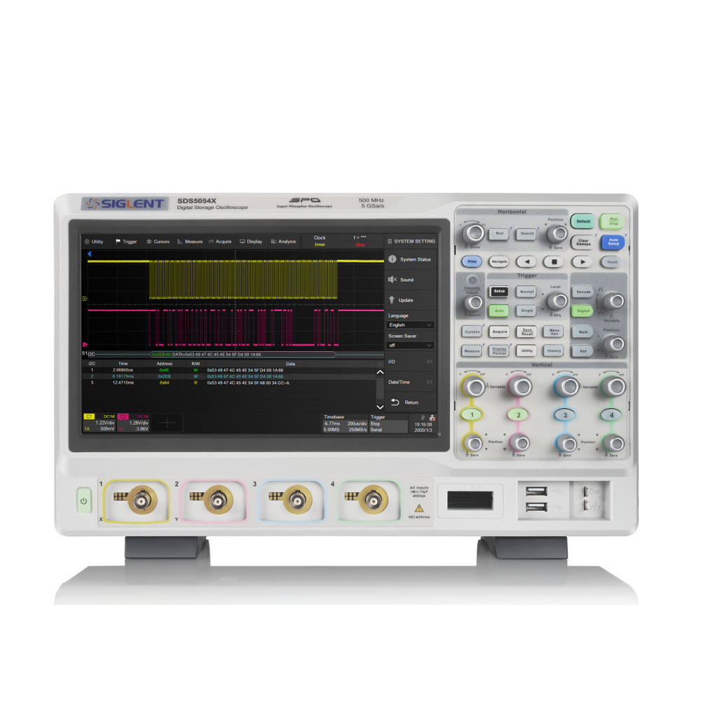 500 MHZ; 4 CHANNELS; 5 GSA/S; 250 M MEMORY DEPTH; 500,000 WFM/S WAVEFORM CAPTURE RATE;