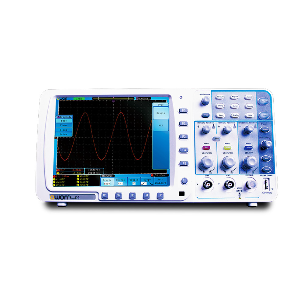 OWON SDS8302V 300MHz 2Ch Deep Memory Digital Storage Oscilloscope w/2.5GS/s Sample Rate