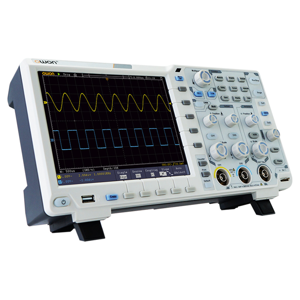 OWON XDS3202A OSCILLOSCOPE WITH 1GS/S SAMPLING RATE, 200MHZ, 14BITS ADC, AND 2 CHANNELS