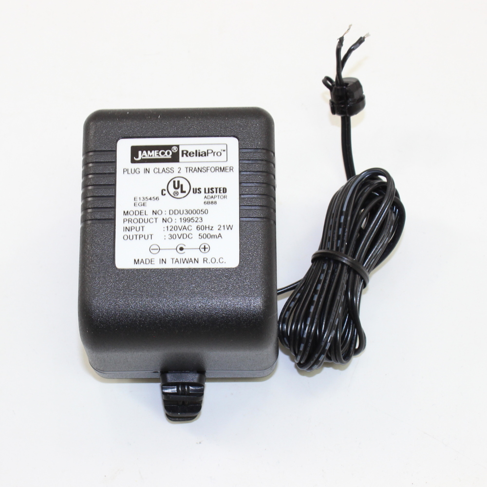 AC/DC 30 VOLT WALL POWER ADAPTOR,.5 AMPS