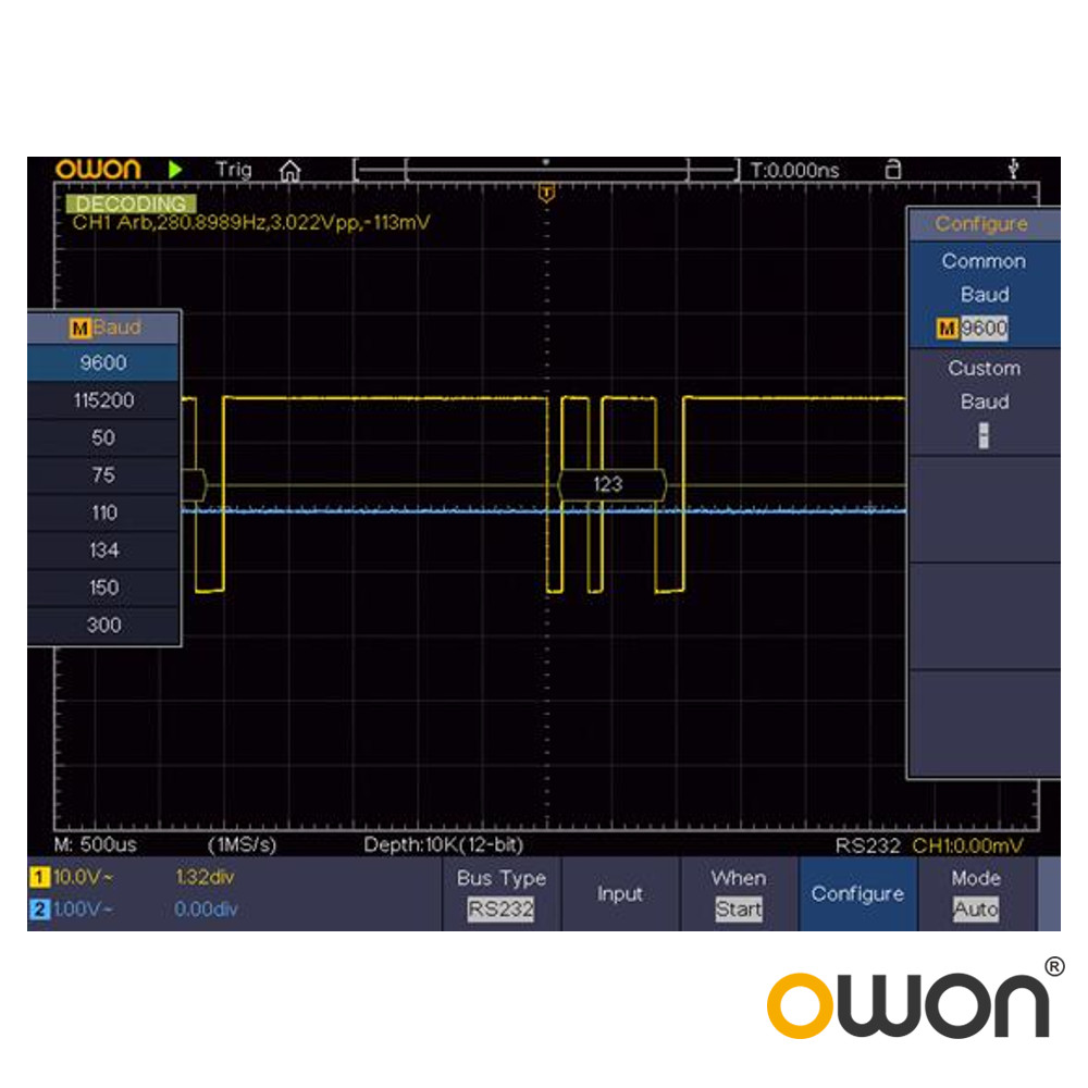 SPI-I2C-232 Decoding option for OWON Test Equipment