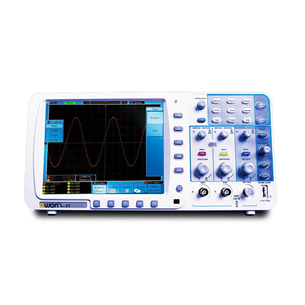 OWON SDS6062V 60HMz 2Ch SmartDS Series Digital Oscilloscope with VGA