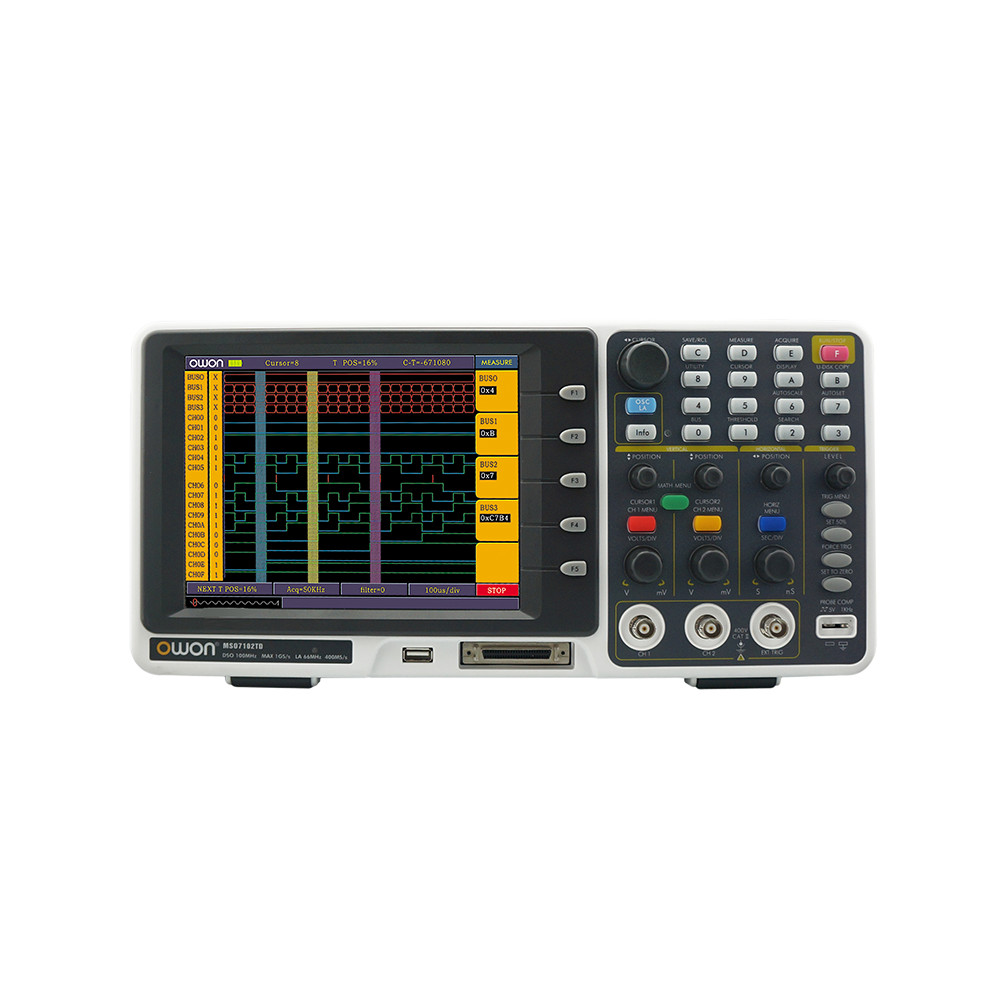 OWON MSO8102T Logic Aanalyzer with 100 MHz 2 Ch Digital Oscilloscope
